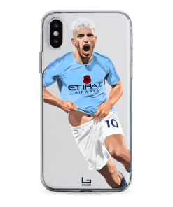 Aguero scores vs manchester united on Derby phone case