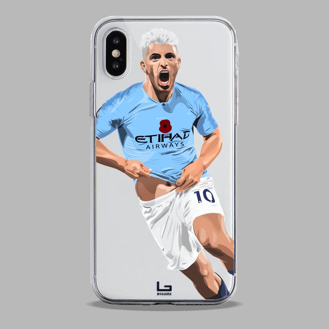 Aguero scores vs manchester united on Derby phone case