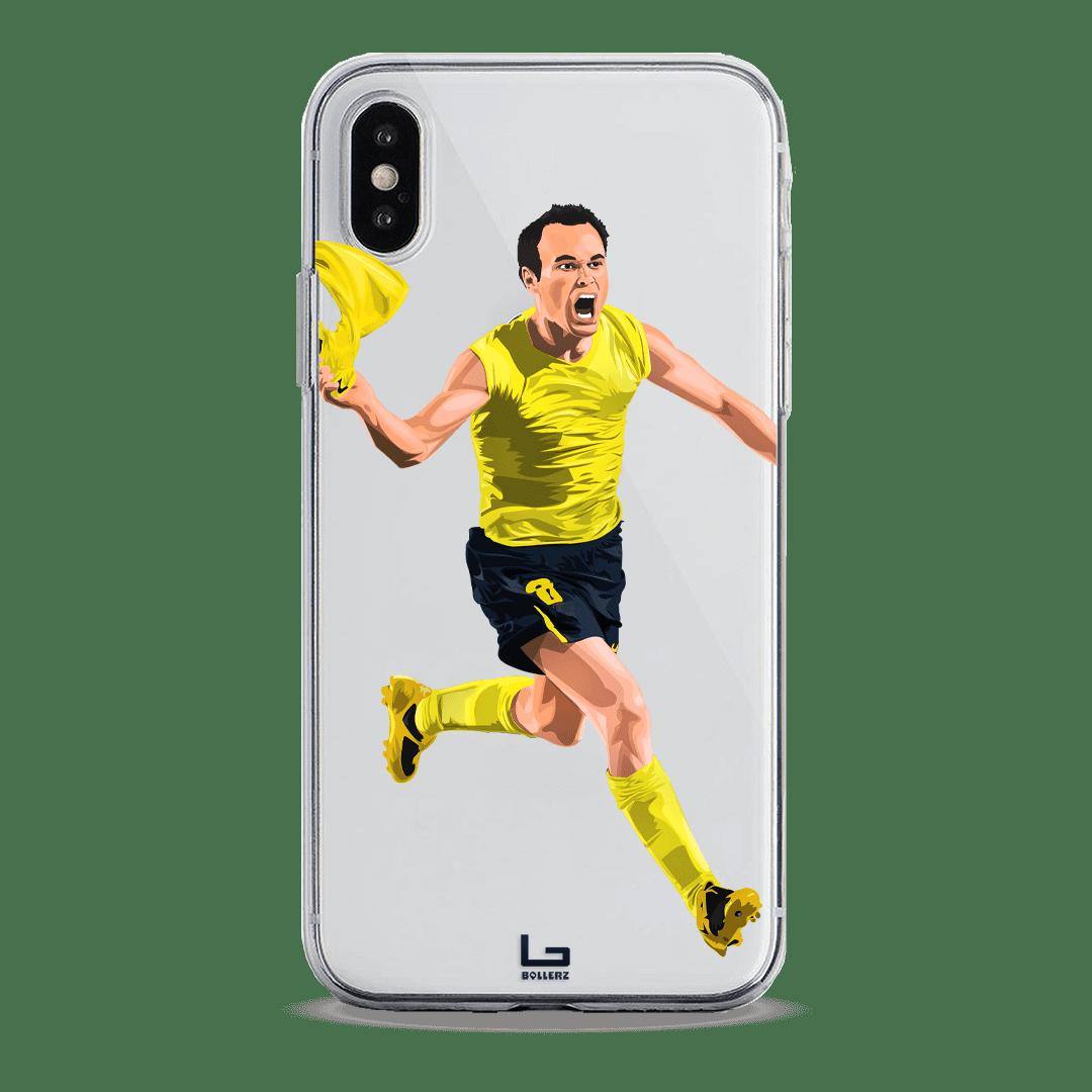 Iniesta last minute goal champions league vs Chelsea phone case