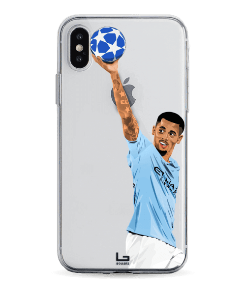 Jesus Hattrick on premier league manchester city phone case
