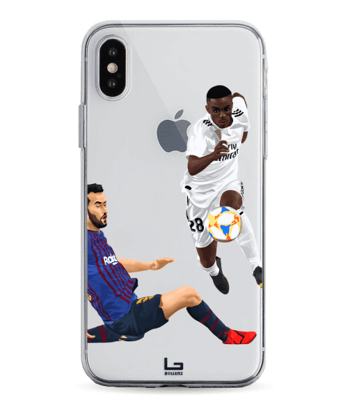 Vinicius vs Busquets el classico phone case