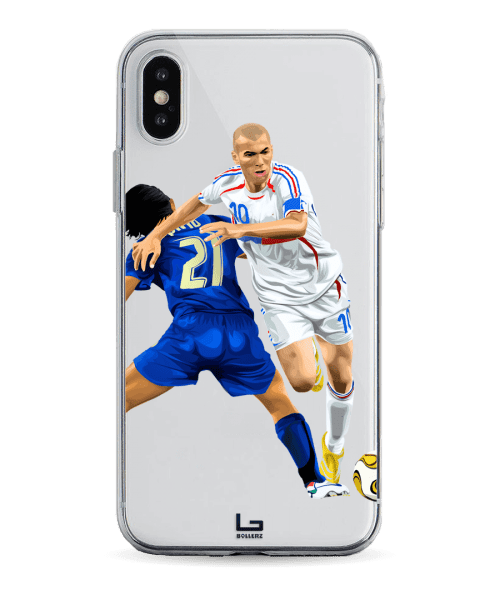 Zidane Dribbling Pirlo france vs italy phone case