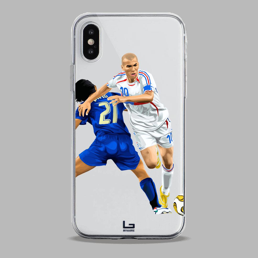 Zidane Dribbling Pirlo france vs italy phone case