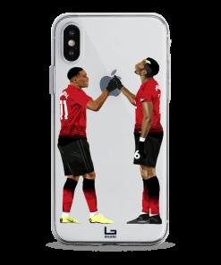 united Pogba and Martial handShake celebration phone case
