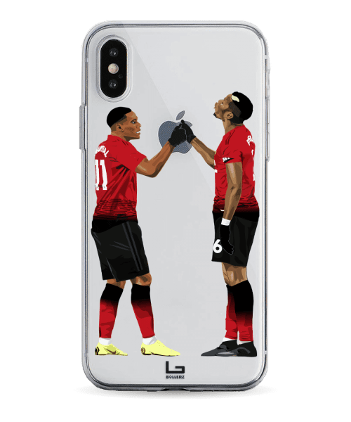 united Pogba and Martial handShake celebration phone case
