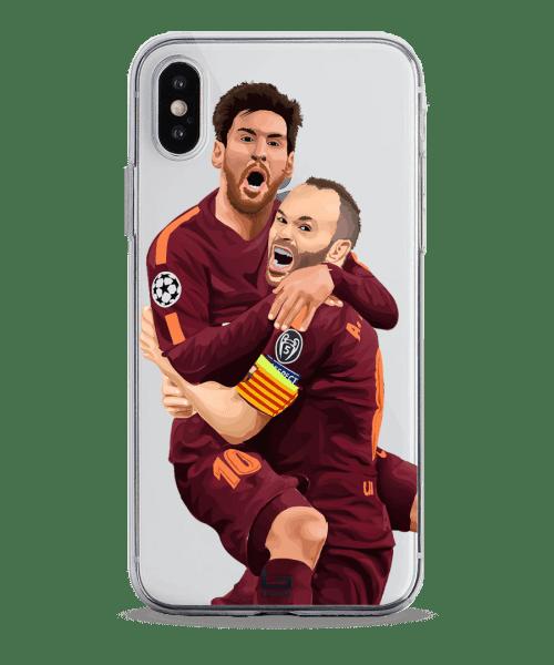 Messi & Iniesta celebrate vs Chelsea