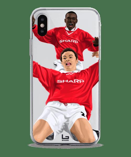 ole solskjaer champions league final goal united vs bayern munich phone case