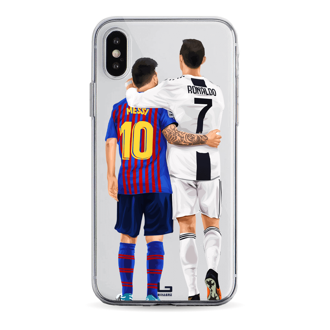 Ronaldo Messi friends great moments phone case