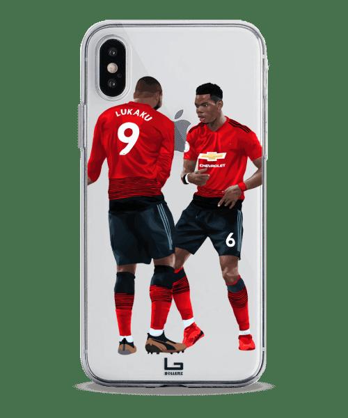 United Lukaku and Pogba celebration phone case