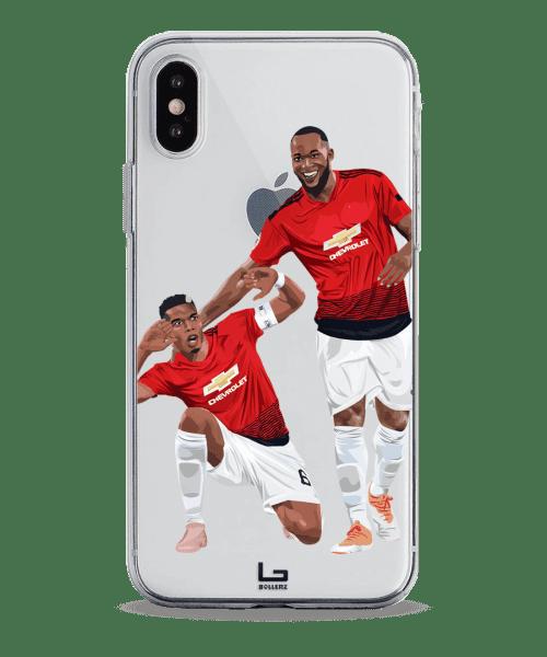 united Pogba and Lukaku celebration phone case