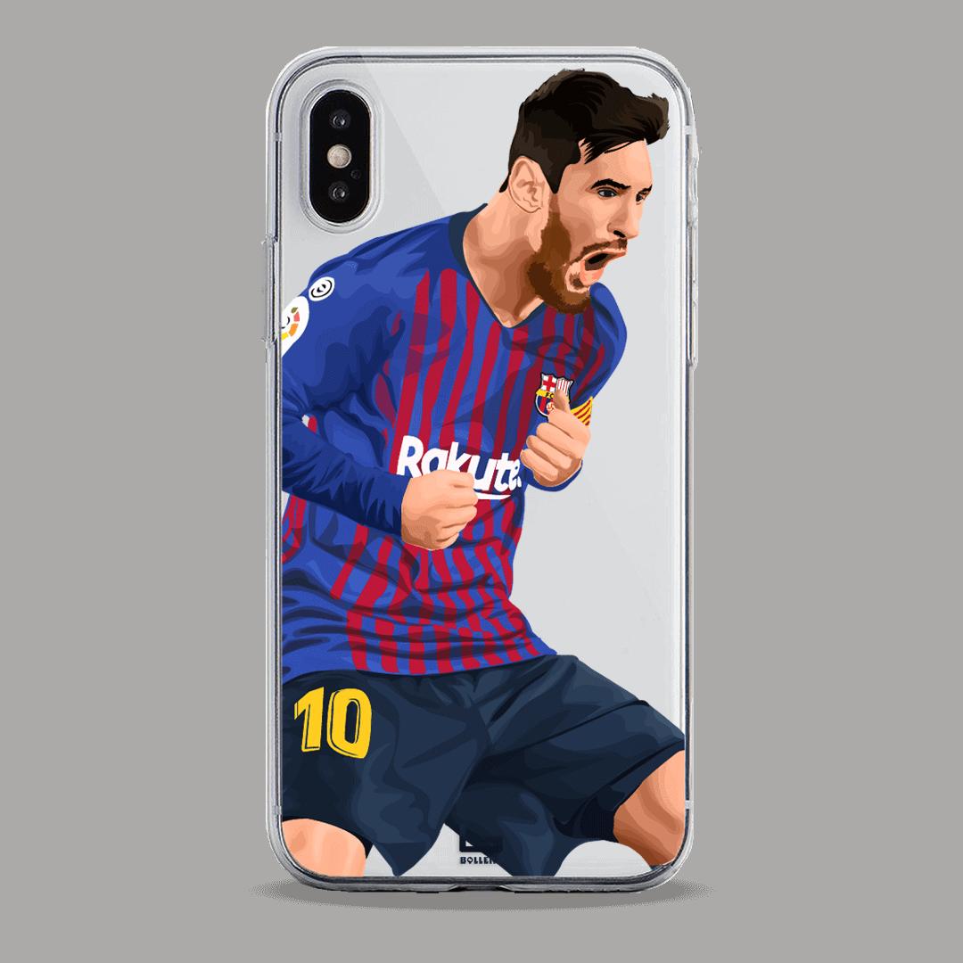 Messi celebrate vs Valencia phone case