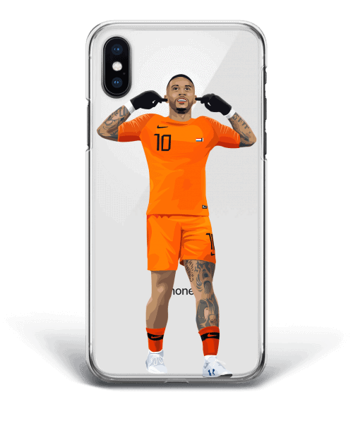 Memphis Depay scores for Netherlands national team - Phone case