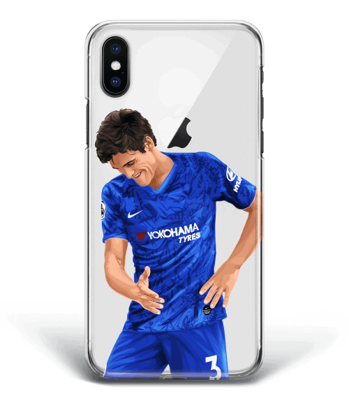 Marcos Alonso Celebrates his winning goal for Chelsea - phone case