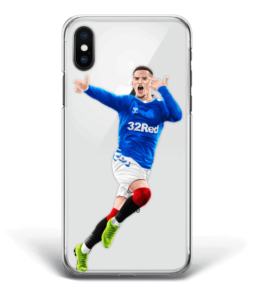 Ryan Kent Guns Salute vs Celtic Old Firm Derby phone case