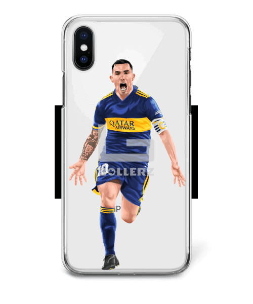 Carlos Tevez Boca Juniors Championship game vs Gimnasia phone case