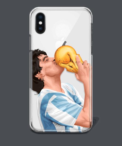 Maradona world cup winner Argentina phone case