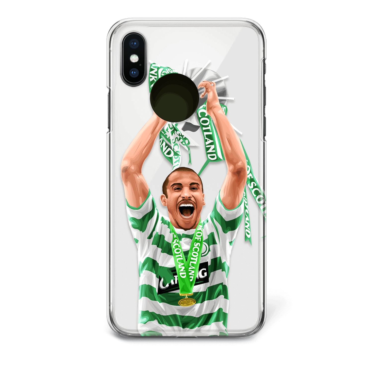 Henrik Larsson celtic phone case